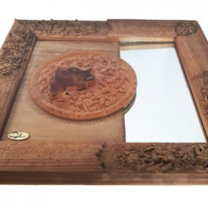 Iranian Wood Carvin Mirror Frame made by Mohammad Mehdi Tavakol