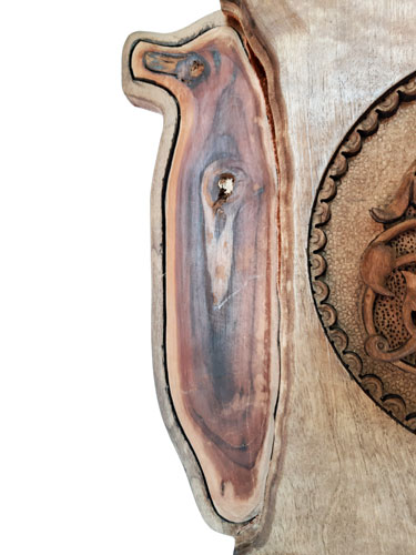 Iranian wood carving key holder