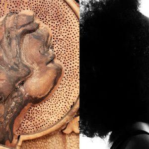Monabat Gereh black woman face made by master Tavakol
