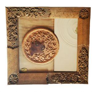 Buy Monabat Kari mirror frame (Iranian wood carving mirror frame)from handicrafts 365