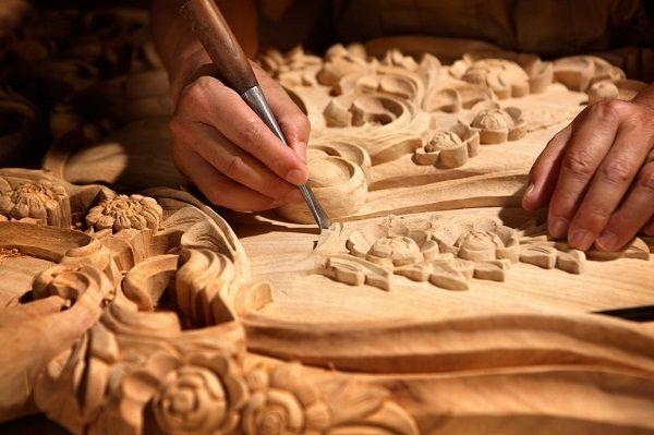 persian wood carving pattern
