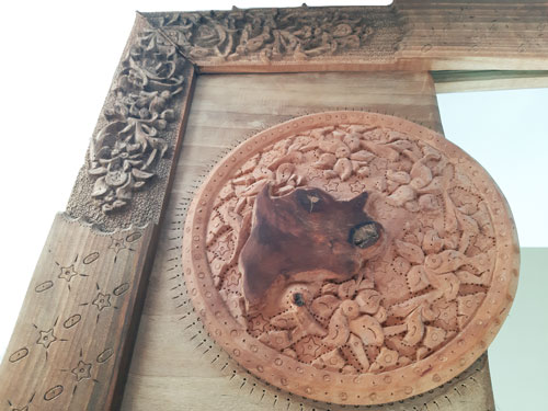 Monabat Kari mirror frame made by mohammad mehdi tavakkol
