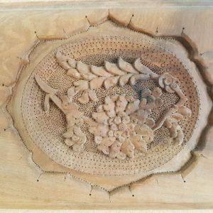 Iranian wood carving tableau (Ya Rab)