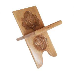 Monabat Kari book stand - Iranian wood carving Rehal