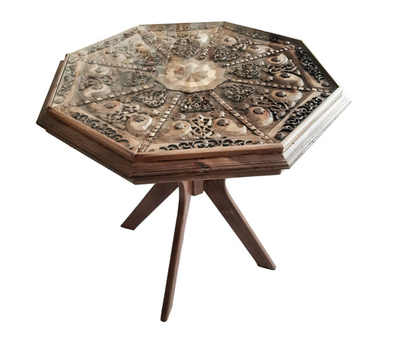Monabat Kari Table - (Iranian wood carving Table)