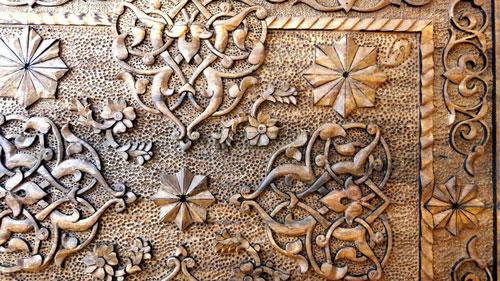 Iranian wood carving side table - Tavakol brand