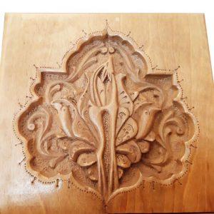 Monabat Kari Rehal - Iranian wood carving Rehal