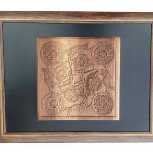 Iranian handicrafts Monabat Kari tableau (Ali) - Purchase Iranian wood carving tableau (Ali) at handicrafts 365