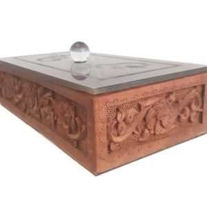 wood carving box - Iranian monabat kari box