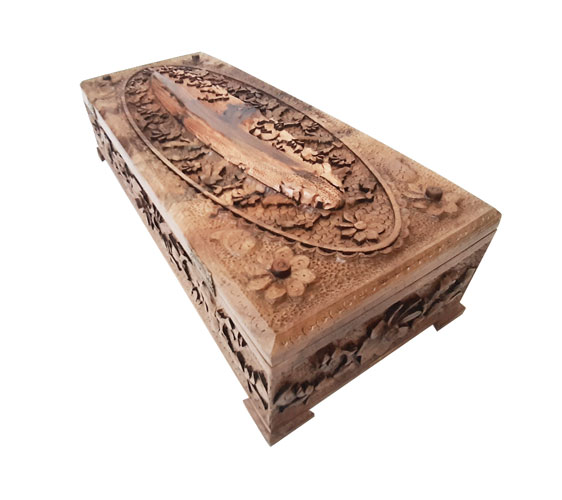 Wood Carving Box (Fox Escape) made by Mohammad Mehdi Tavakoli