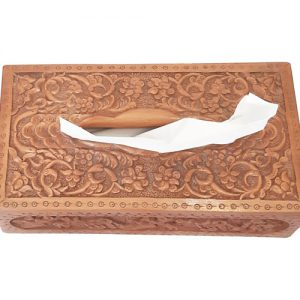 Wood Carving Tissue box made by mohammad mehdi tavakol