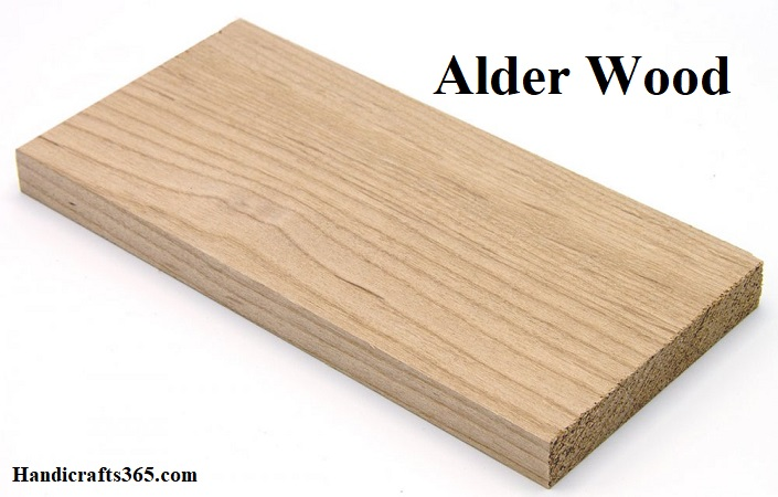 Alder wood lumber for wood working and wood carving
