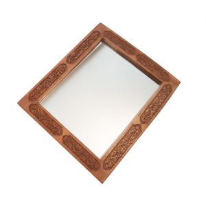 Wood Carving Rectangular Mirror at handicrafts365.com