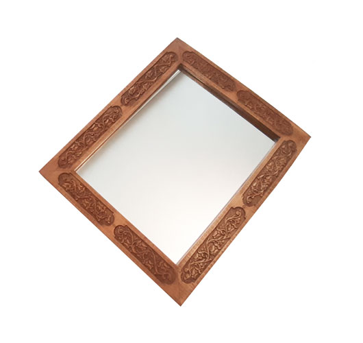 Wood Carving Rectangular Mirror at handicrafts365.com