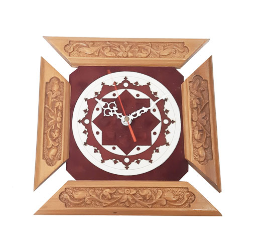 Buy Wood Carving Wall Clock from Handicrafts365.com