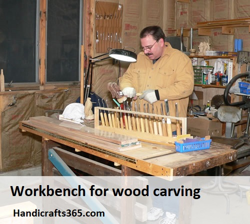 Workbench for wood carving