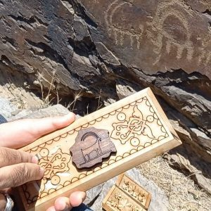 Wood Carving Box (Petroglyph) - Golpayegan