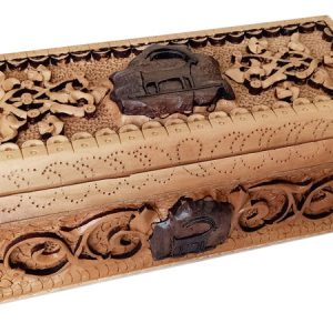 Wood Carving Box (Petroglyph)