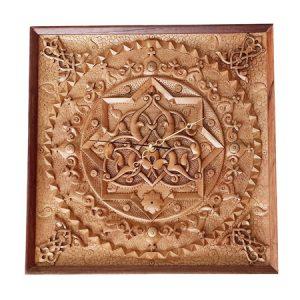Wood Carving Clock (Heaven) - Handicrafts365.com