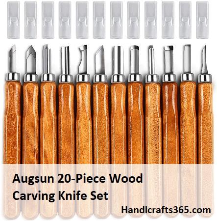 Augsun 20-Piece Wood Carving Knife Set