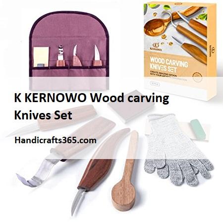 K KERNOWO Wood carving Knives Set for beginners